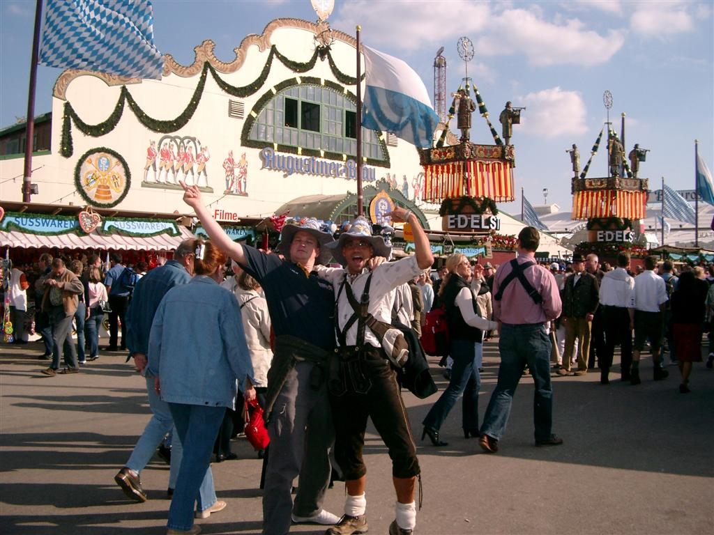 octoberfest munich in front of the augustiner br u beer tent olidaytours. Black Bedroom Furniture Sets. Home Design Ideas