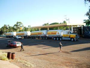 Australian road train and my little Suzuki Sierra right next to it