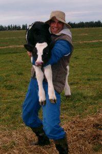 Oli as a farmer in New Zealand!
