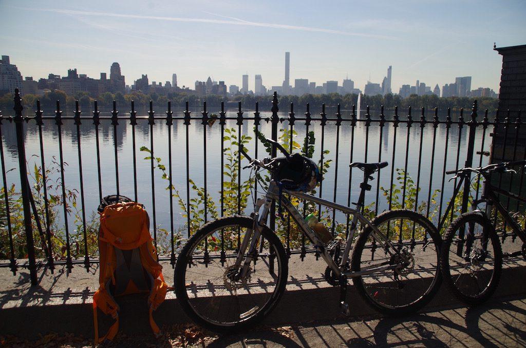 Bei der New York Fahrrad Tour im Central Park